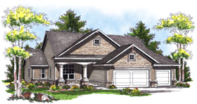 House Plan 73034 Elevation