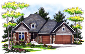 House Plan 73036 Elevation