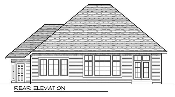 House Plan 73036 Rear Elevation