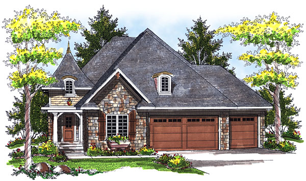 House Plan 73037 Elevation