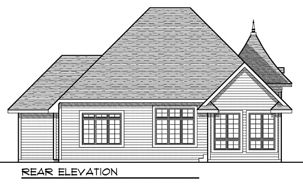 House Plan 73037 Rear Elevation