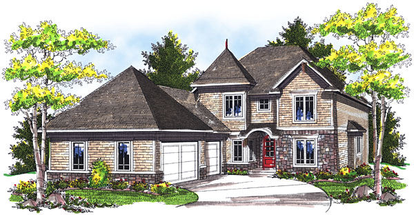 House Plan 73038 Elevation