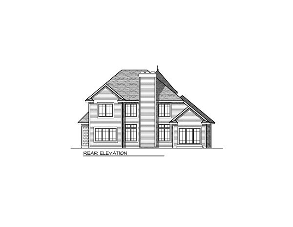 House Plan 73038 Rear Elevation