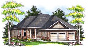 House Plan 73041 Elevation