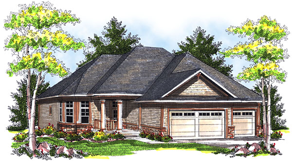 House Plan 73041 Elevation