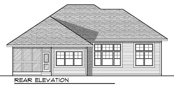 House Plan 73041 Rear Elevation