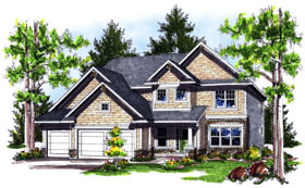 House Plan 73043 Elevation
