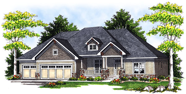 House Plan 73045 Elevation