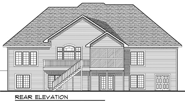 House Plan 73045 Rear Elevation