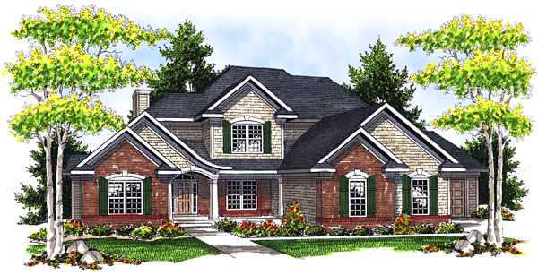 House Plan 73046 Elevation