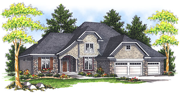 House Plan 73047 Elevation