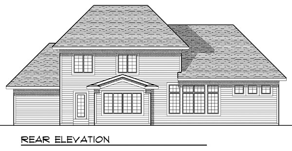House Plan 73047 Rear Elevation
