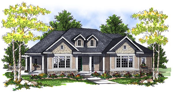 House Plan 73048 Elevation