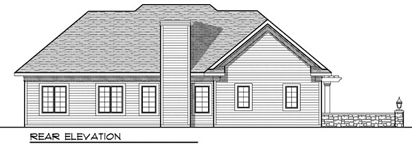 House Plan 73048 Rear Elevation