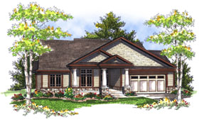 House Plan 73049 with 3 Beds, 2 Baths, 2 Car Garage Elevation