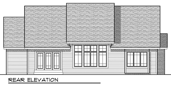 House Plan 73049 with 3 Beds, 2 Baths, 2 Car Garage Rear Elevation