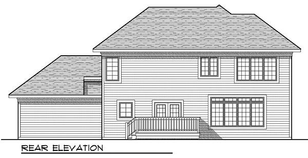House Plan 73050 Rear Elevation
