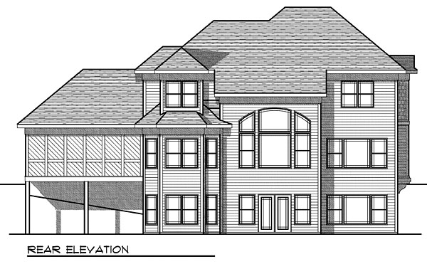 House Plan 73051 Rear Elevation