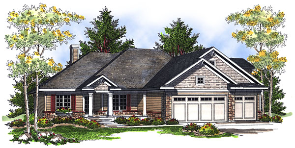 House Plan 73052 Elevation