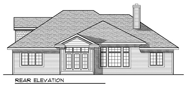 House Plan 73052 Rear Elevation