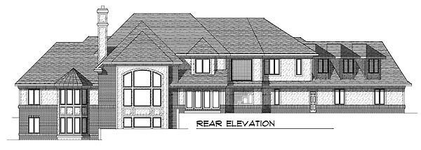 House Plan 73053 Rear Elevation