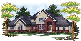 Traditional House Plan 73054 with 3 Beds, 3 Baths, 3 Car Garage Elevation
