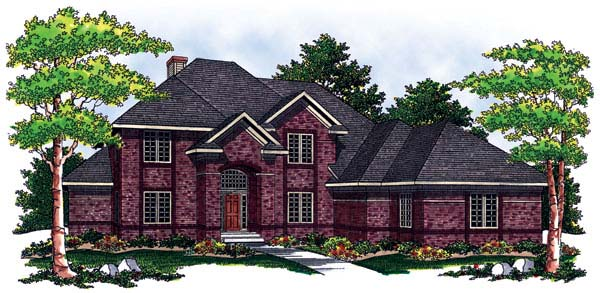 European House Plan 73055 Elevation