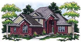 European House Plan 73056 Elevation