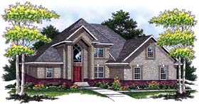 European Traditional House Plan 73057 Elevation