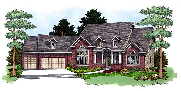 Country House Plan 73059 Elevation