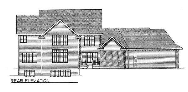 Country House Plan 73059 Rear Elevation