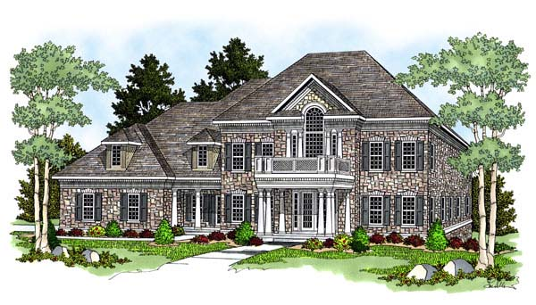 Colonial , European House Plan 73060 with 4 Beds, 5 Baths, 4 Car Garage Elevation