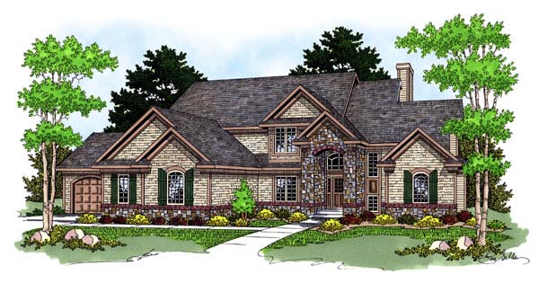 Traditional Tudor House Plan 73061 Elevation