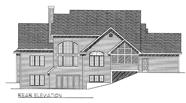 Traditional Tudor House Plan 73061 Rear Elevation
