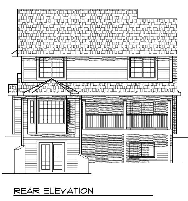 Traditional House Plan 73062 Rear Elevation