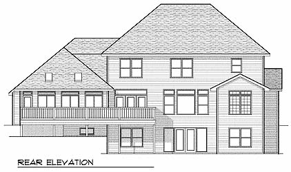 Colonial European House Plan 73063 Rear Elevation