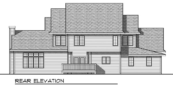 House Plan 73066 | Country Style Plan with 2508 Sq Ft, 3 Bedrooms, 3 Bathrooms, 4 Car Garage Rear Elevation