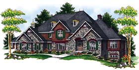 European Tudor House Plan 73067 Elevation