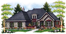 European Traditional House Plan 73068 Elevation