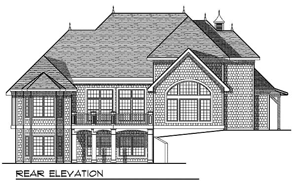European Traditional House Plan 73068 Rear Elevation