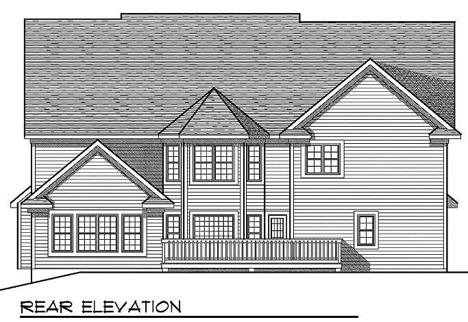 Traditional House Plan 73069 Rear Elevation