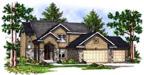 Traditional House Plan 73070 Elevation
