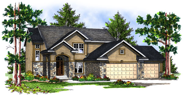 Traditional Elevation of Plan 73070