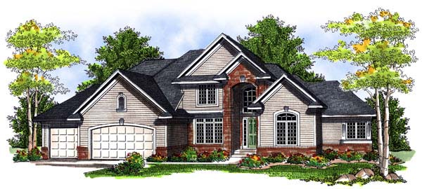 Traditional House Plan 73071 Elevation
