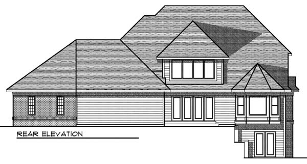 Traditional House Plan 73072 Rear Elevation