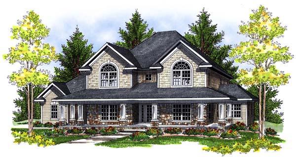 European Farmhouse House Plan 73073 Elevation