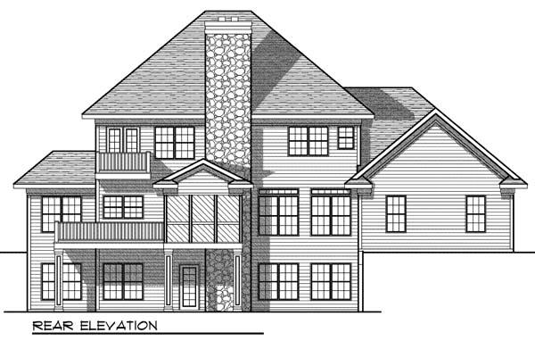 European Farmhouse House Plan 73073 Rear Elevation