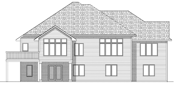 House Plan 73074 Rear Elevation
