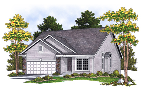 House Plan 73075 Elevation