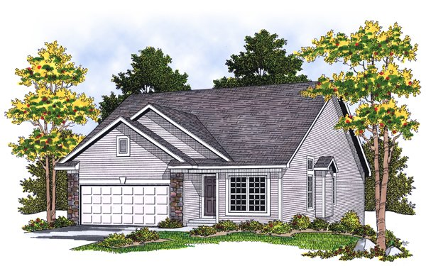 House Plan 73075 with 3 Beds, 3 Baths, 2 Car Garage Elevation